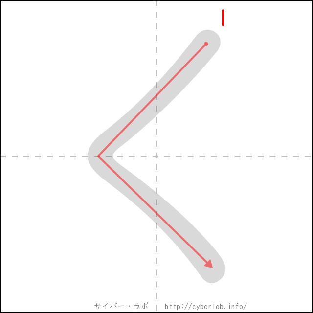 「く」の書き順